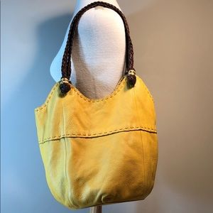 Beautiful The SAK mustard leather bucket purse bag